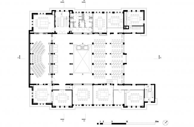 План 2 этажа. Erasmus University College. © (designed by) Erick van Egeraat