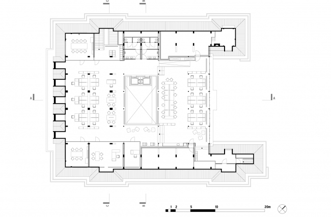 План 3 этажа. Erasmus University College. © (designed by) Erick van Egeraat