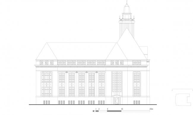 Фасады. Erasmus University College. © (designed by) Erick van Egeraat