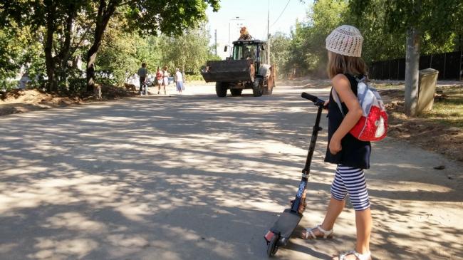 Бульвар летом 2014 года в ходе «благоустройства»
