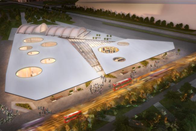 Проект автовокзала в составе ТПУ «Тушино», ТПО «Резерв». Изображение: archsovet.msk.ru