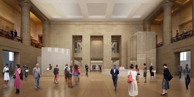 Музей искусств Филадельфии – реконструкция © Gehry Partners