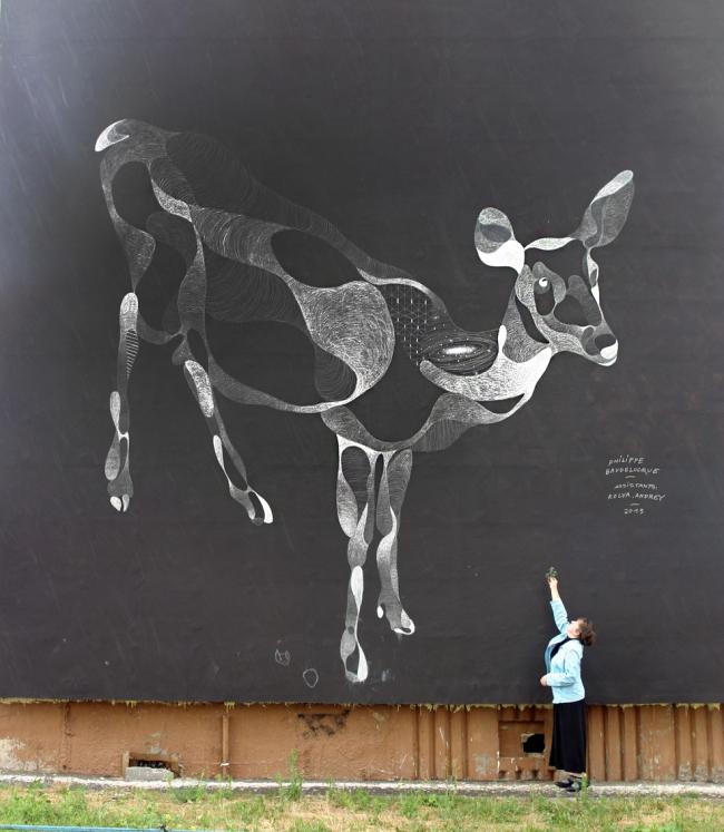 Филипп Боделок. Графити «Олень». Фото Любови Игнатушко