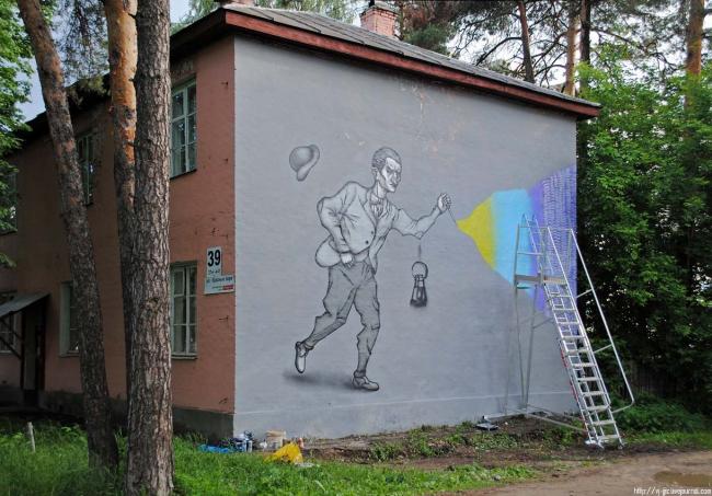 Графитти в Выксе. Фото Надежды Щема