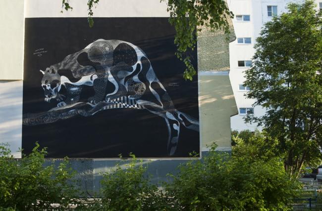 Филипп Боделок. Граффити «Леопард». Фото с сайта vykza.ru