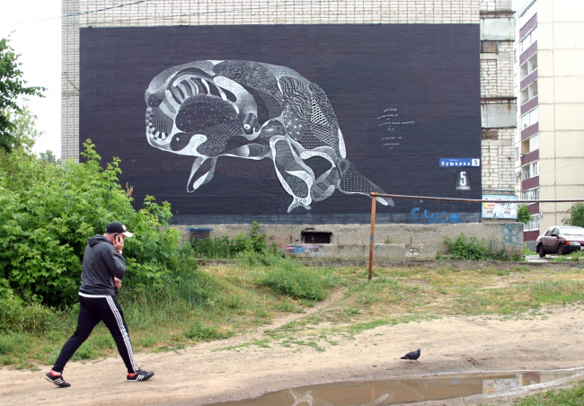 Филипп Боделок. Графити «Кит-кот». Фото Марины Игнатушко