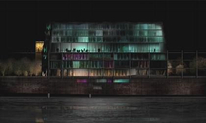 Центр музыки Smac. Фасад со стороны реки