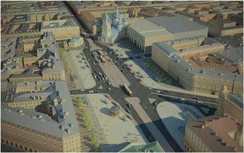 Проект реконструкции Сенной площади. Изображение:nvspb.ru