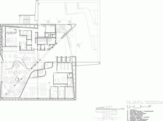 Культурный центр CaixaForum в Сарагосе | План 4-го этажа © Estudio Carme Pinós