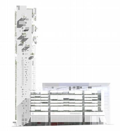 Комплекс «Лэндмарк». Северный фасад
