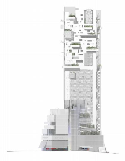 Комплекс «Лэндмарк». Западный фасад
