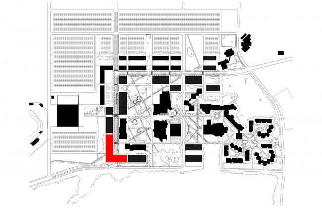 Ситуационный план. Бизнес-школа Ратгерс © TEN architectos