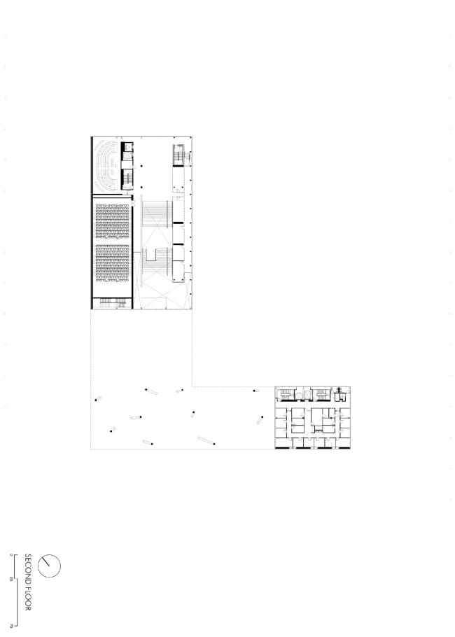 Третий этаж. План. Бизнес-школа Ратгерс © TEN architectos