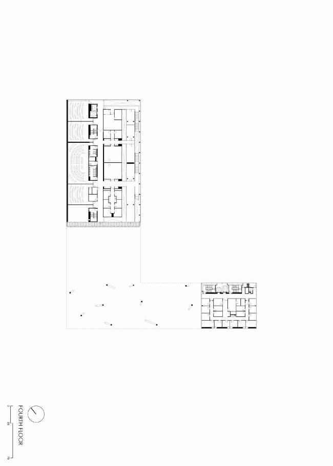 Пятый этаж. План. Бизнес-школа Ратгерс © TEN architectos