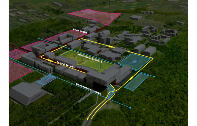 Транспортная схема. Бизнес-школа Ратгерс © TEN architectos