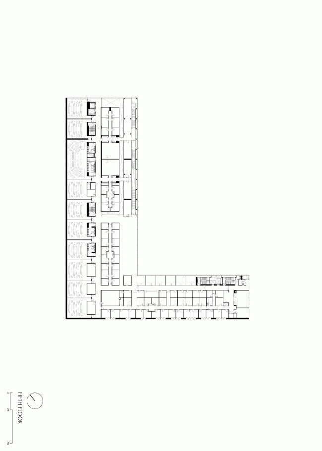 Шестой этаж. План. Бизнес-школа Ратгерс © TEN architectos