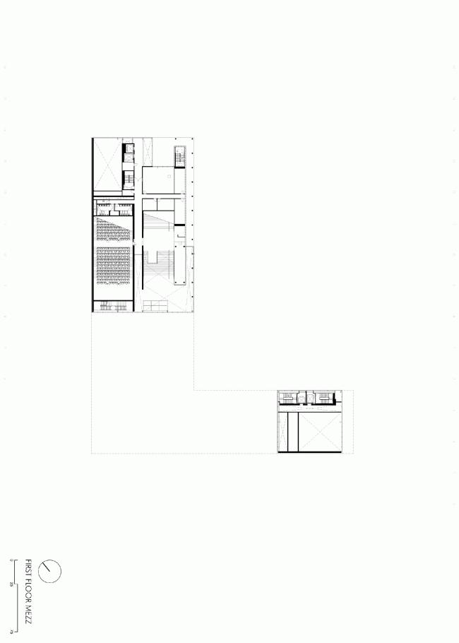 Второй этаж. План. Бизнес-школа Ратгерс © TEN architectos