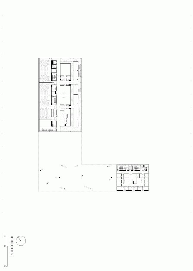 Четвертый этаж. План. Бизнес-школа Ратгерс © TEN architectos