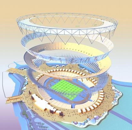 Олимпийский стадион 2012. Схема конструкции