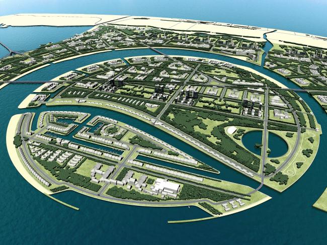 Общий план комплекса «Золотая миля» в Анапе © Архитектурное бюро «А.Лен»