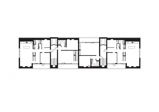 Корпус B жилого массива Strandparken.  План © Wingårdhs Arkitekter