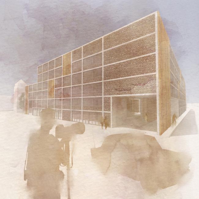 Визуализация. Проект «Совместный Дом. Экспериментальное социальное жилье в г. Медельин, Колумбия». © Автор: Иван Ильяков