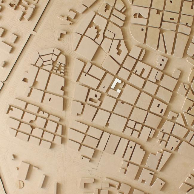 Модель. Проект «Совместный Дом. Экспериментальное социальное жилье в г. Медельин, Колумбия». © Автор: Иван Ильяков