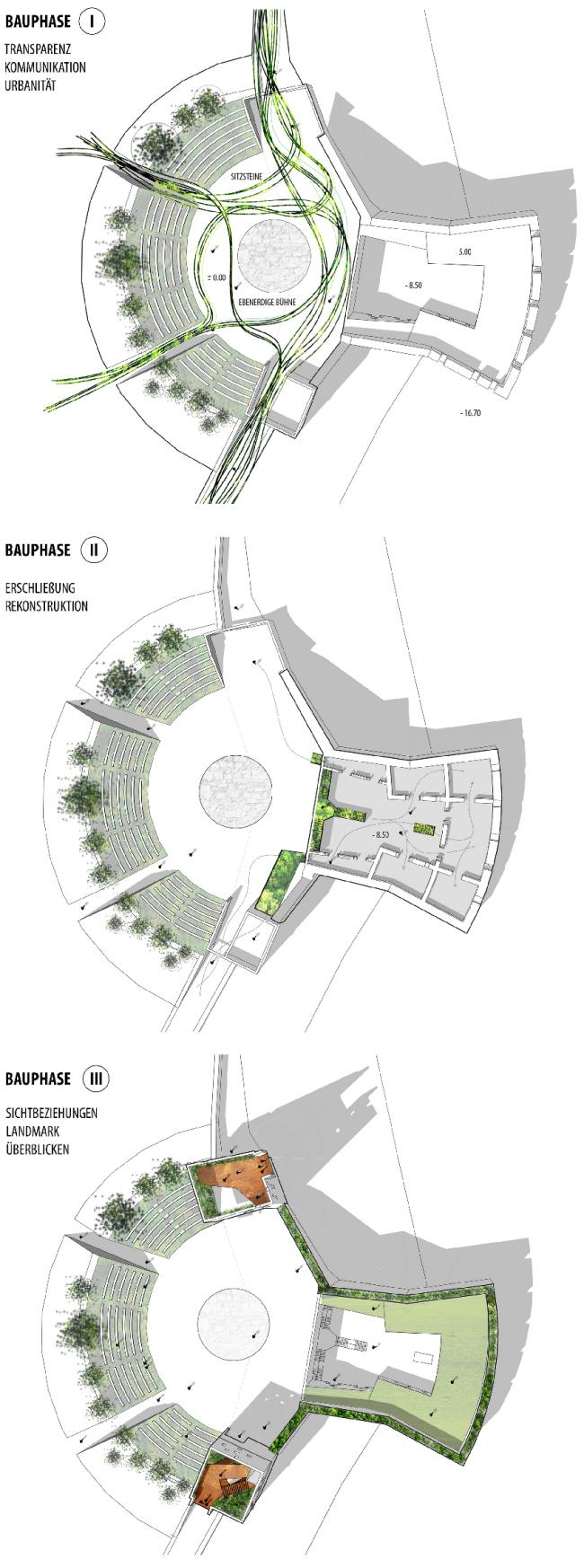 Планы. Проект «Крепость Кобленц – Новые возможности свободных пространств». © Автор: Элизабет Пабст