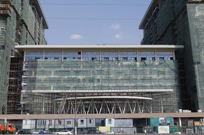 Жилой комплекс «Новоясеневский». Ход строительства. Июль 2014 г. Фотография с сайта flatco.ru