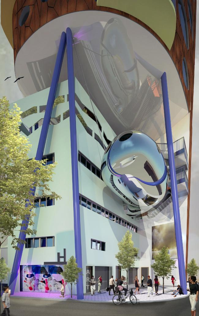 Башня Heliport Heights © aLL Design