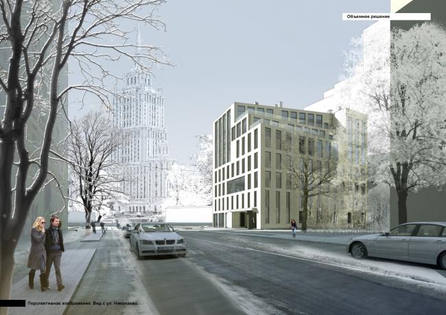 Парковочно-офисный комплекс с рестораном на Краснопресненской набережной, вл. 6. Фотофиксация. АПБ «Резерв»
