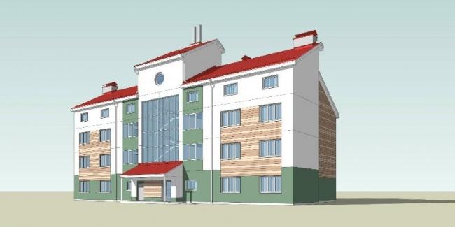 Проект дома «Надежда» в Тульской области. Изображение: rugbc.org