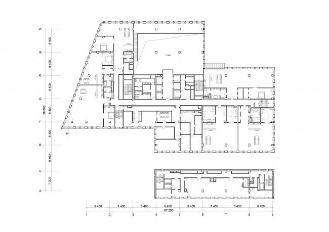 Бизнес-центр «Wall street» на Валовой улице. План © ТПО «Резерв»