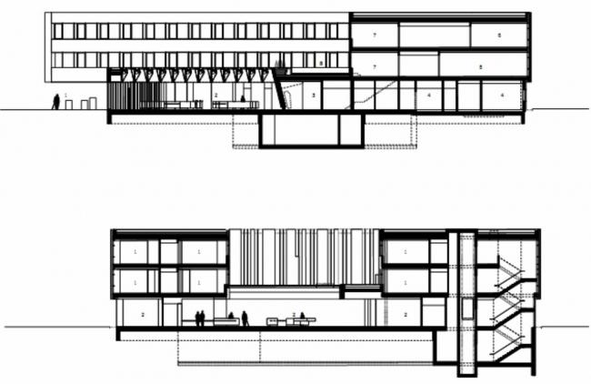 Штаб-квартира Bestattung Wien GmbH и Friedhofe Wien GmbH © Delugan Meissl