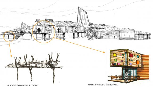Town-plannung concept, Kaluga region; 2013. Administrative building © Sergey Estrin Architecs