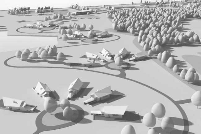 Градостроительная концепция, Калужская область; 2013. Вид сверху © Архитектурная мастерская Сергея Эстрина
