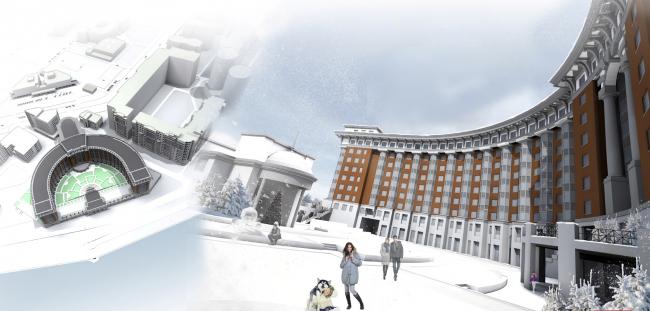 Multi-functional complex in Astana © Sergey Estrin Architecs