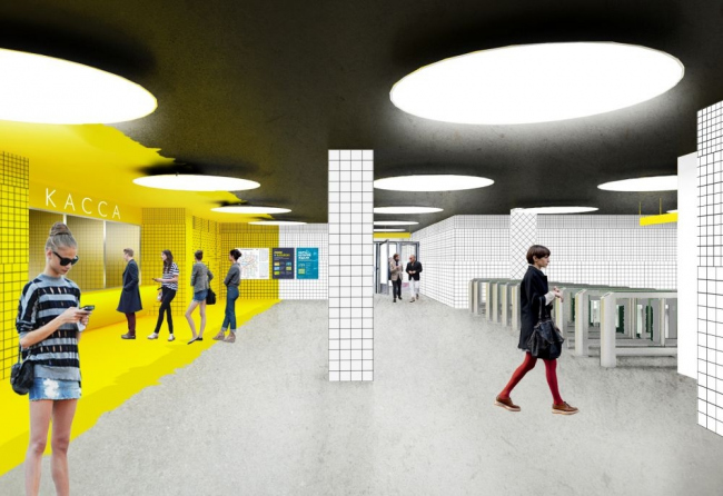 "Project of ""Solntsevo"" station © Rhizome Group"