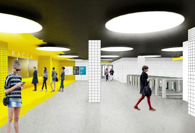 Проект станции метро «Солнцево» © Rhizome Group
