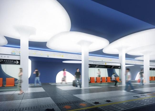 Проект станции метро «Солнцево» © Антон Барклянский