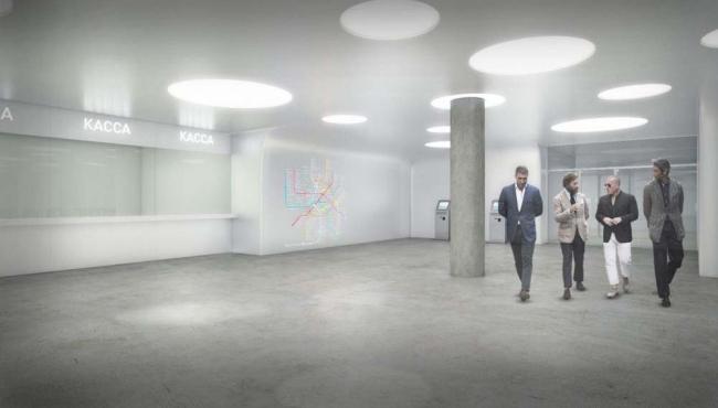 Проект станции метро «Солнцево» © NEFA ARCHITECTS [NEFARESEARCH]