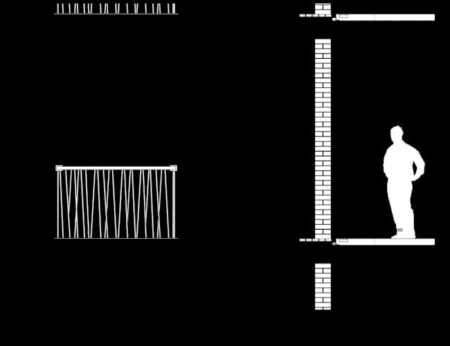 Схема фрагмента фасада N1. Гостиница с апартаментами и подземной автостоянкой в Электрическом переулке, 2014 © Мастерская архитектора Бавыкина