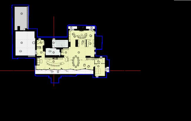Схема плана 6 этажа. Гостиница с апартаментами и подземной автостоянкой в Электрическом переулке, 2014 © Мастерская архитектора Бавыкина