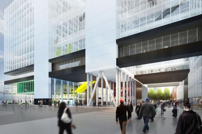 Административное здание на улице Рейнстрат, 8 © Poortcentraal / OMA / BAM