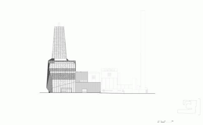 Восточный фасад. Мусоросжигательный завод в Роскилле © Designed by Erick van Egeraat
