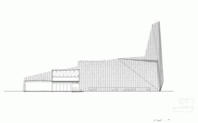 Северный фасад. Мусоросжигательный завод в Роскилле © Designed by Erick van Egeraat