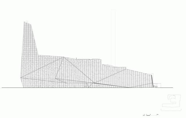 Южный фасад. Мусоросжигательный завод в Роскилле © Designed by Erick van Egeraat