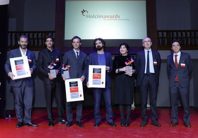 Награждение победителей конкурса Holcim Awards 2014 в театре «Школа драматического искусства». ©www.holcimfoundation.org