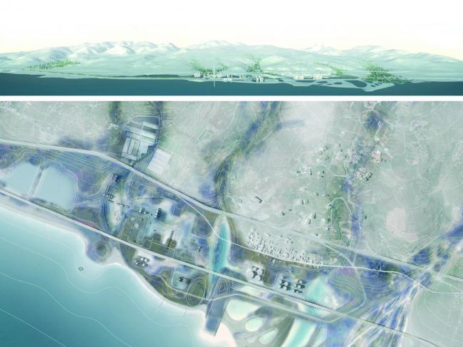 Золотая награда. Проект Anthropic Park в Салине-Ионике, Италия. Авторы Grupo aranea и AutonomeForme. Материалы предоставлены организаторами конкурса