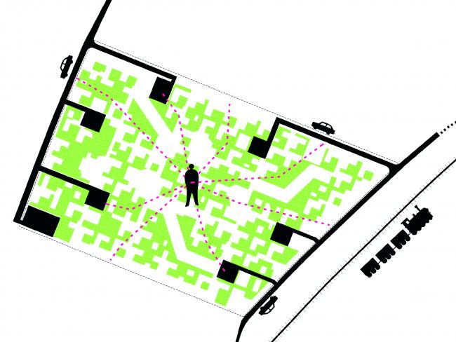 Бронзовая награда. Проект района городской застройки в Вене, Австрия. Бюро Arenas Basabe Palacios arquitectos. Материалы предоставлены организаторами конкурса